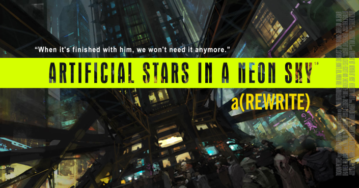 artifical stars on a neon sky poster rewrite